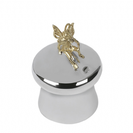 Sterling Silver Tooth Fairy 'Mushroom' Box